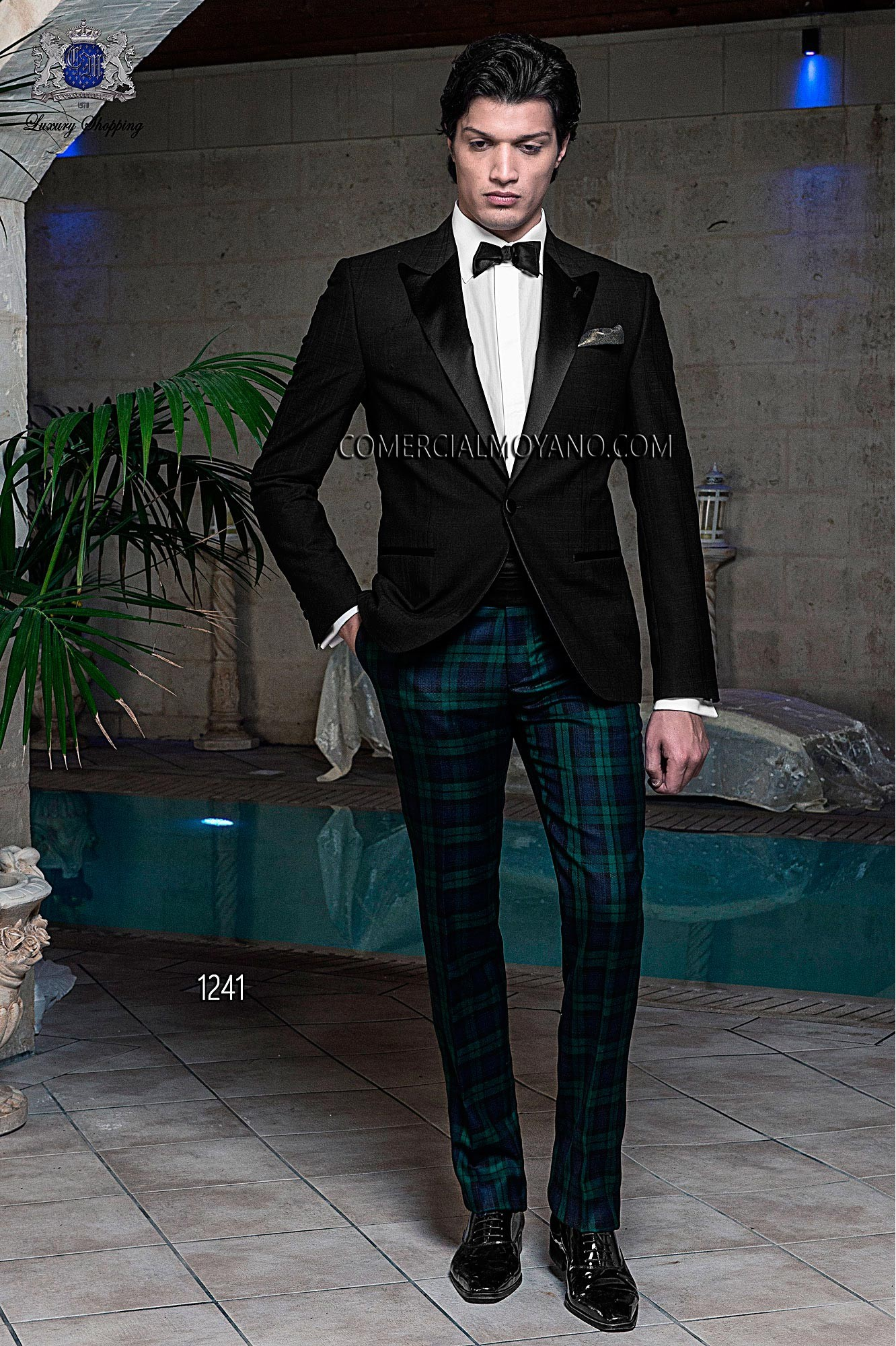 Black Tie black men wedding suit model 1241 Ottavio Nuccio Gala