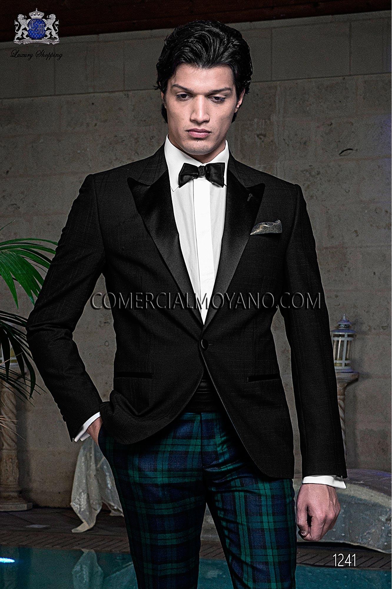 Traje BlackTie de novio negro modelo: 1241 Ottavio Nuccio Gala colección Black Tie