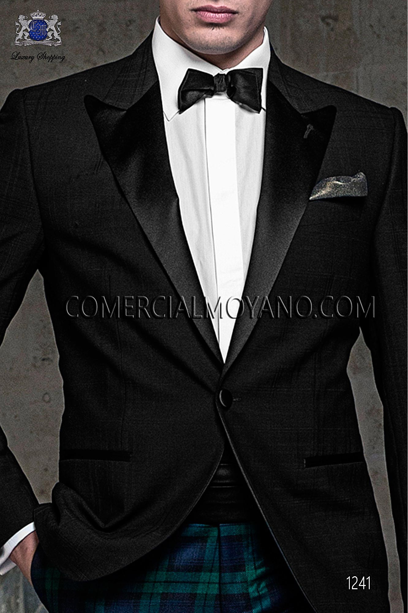 Italian blacktie black men wedding suit, model: 1241 Ottavio Nuccio Gala Black Tie Collection