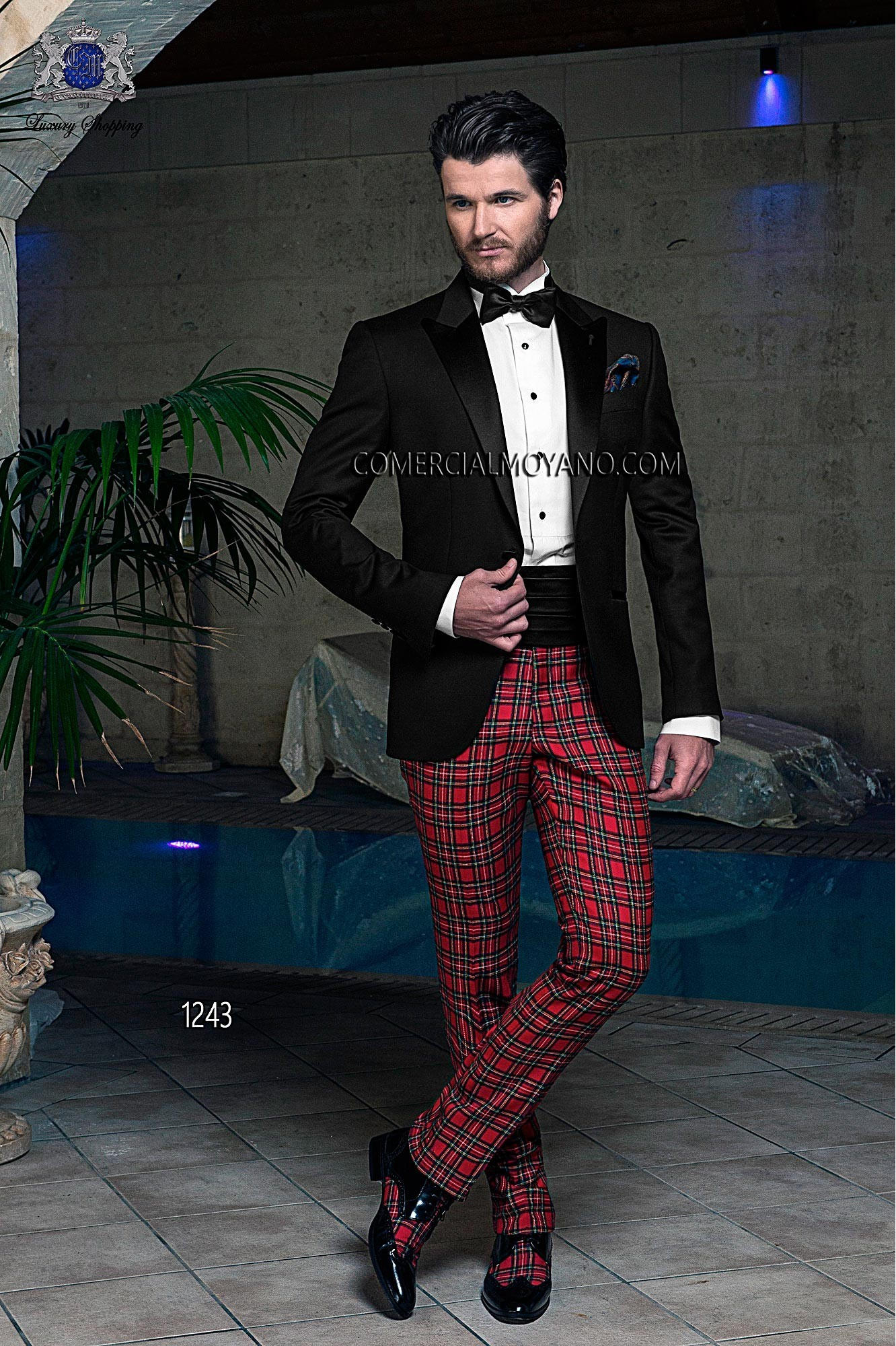 Black Tie black men wedding suit model 1243 Ottavio Nuccio Gala
