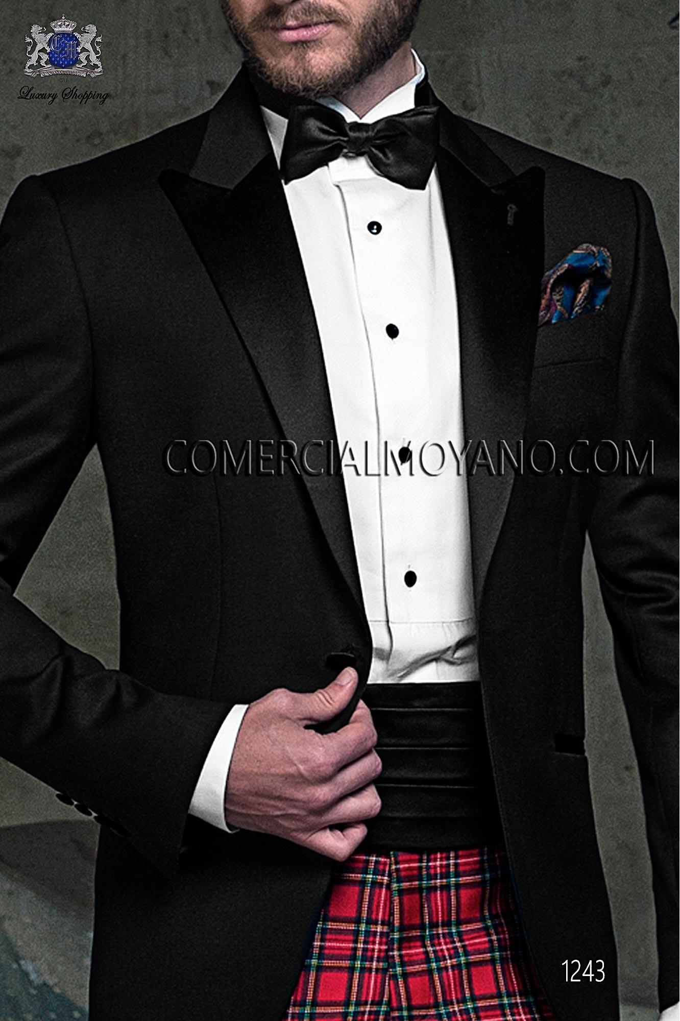 Italian blacktie black men wedding suit, model: 1243 Ottavio Nuccio Gala 2017 Black Tie Collection
