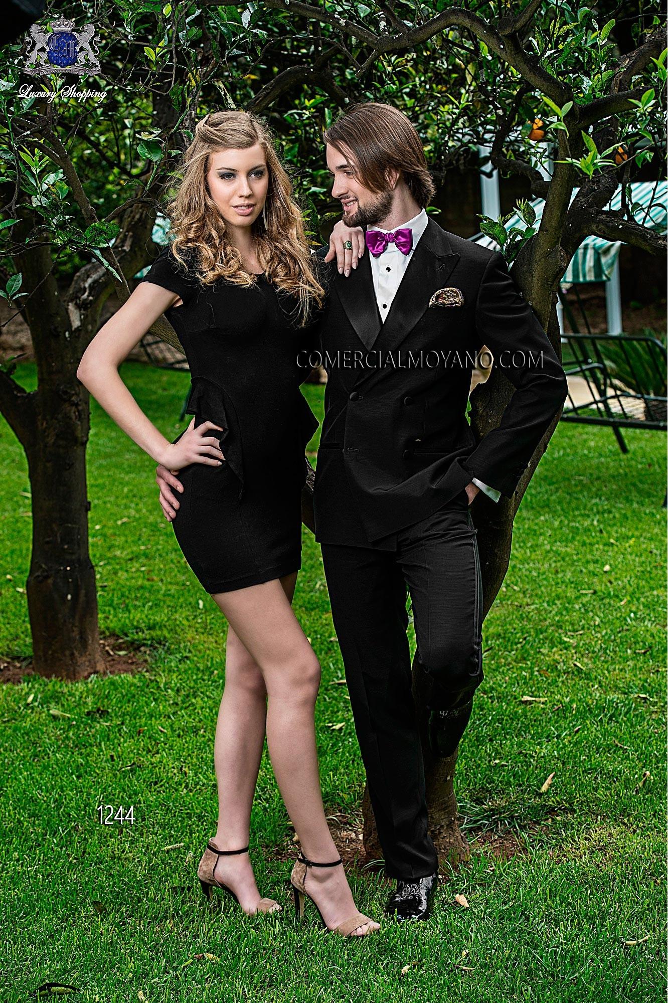 Black Tie black men wedding suit model 1244 Ottavio Nuccio Gala