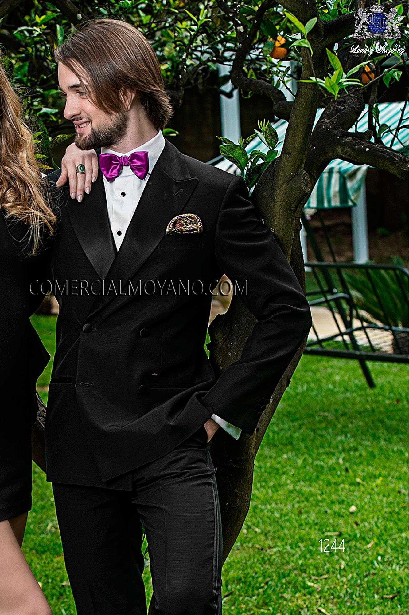 Traje BlackTie de novio negro modelo: 1244 Ottavio Nuccio Gala colección Black Tie 2017