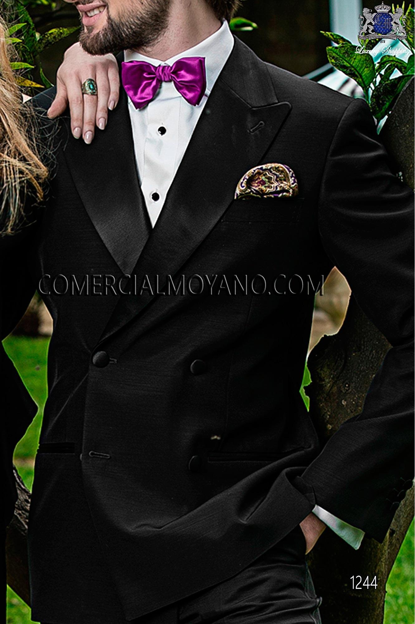 Italian blacktie black men wedding suit, model: 1244 Ottavio Nuccio Gala Black Tie Collection