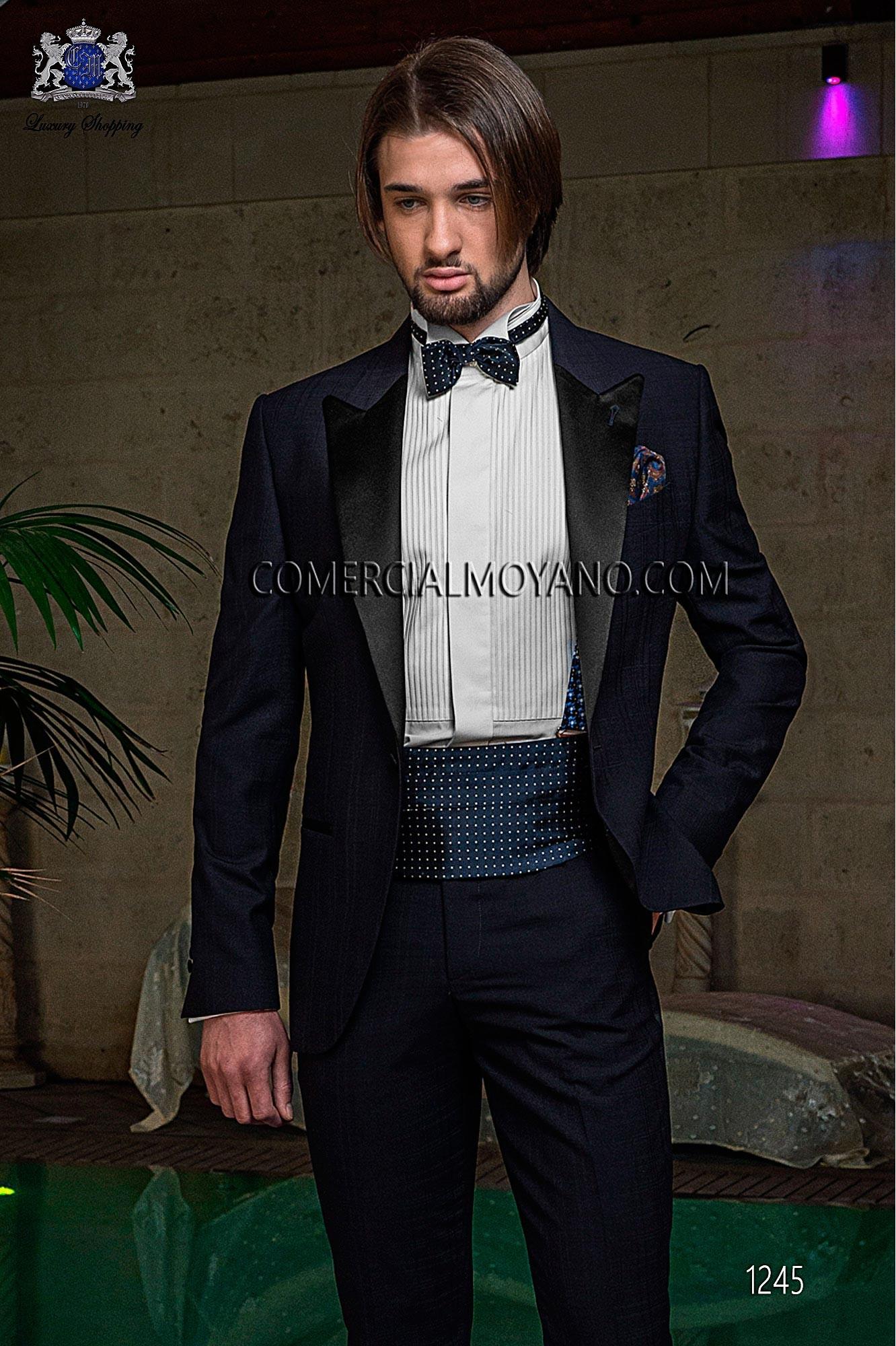 Traje BlackTie de novio azul modelo: 1245 Ottavio Nuccio Gala colección Black Tie