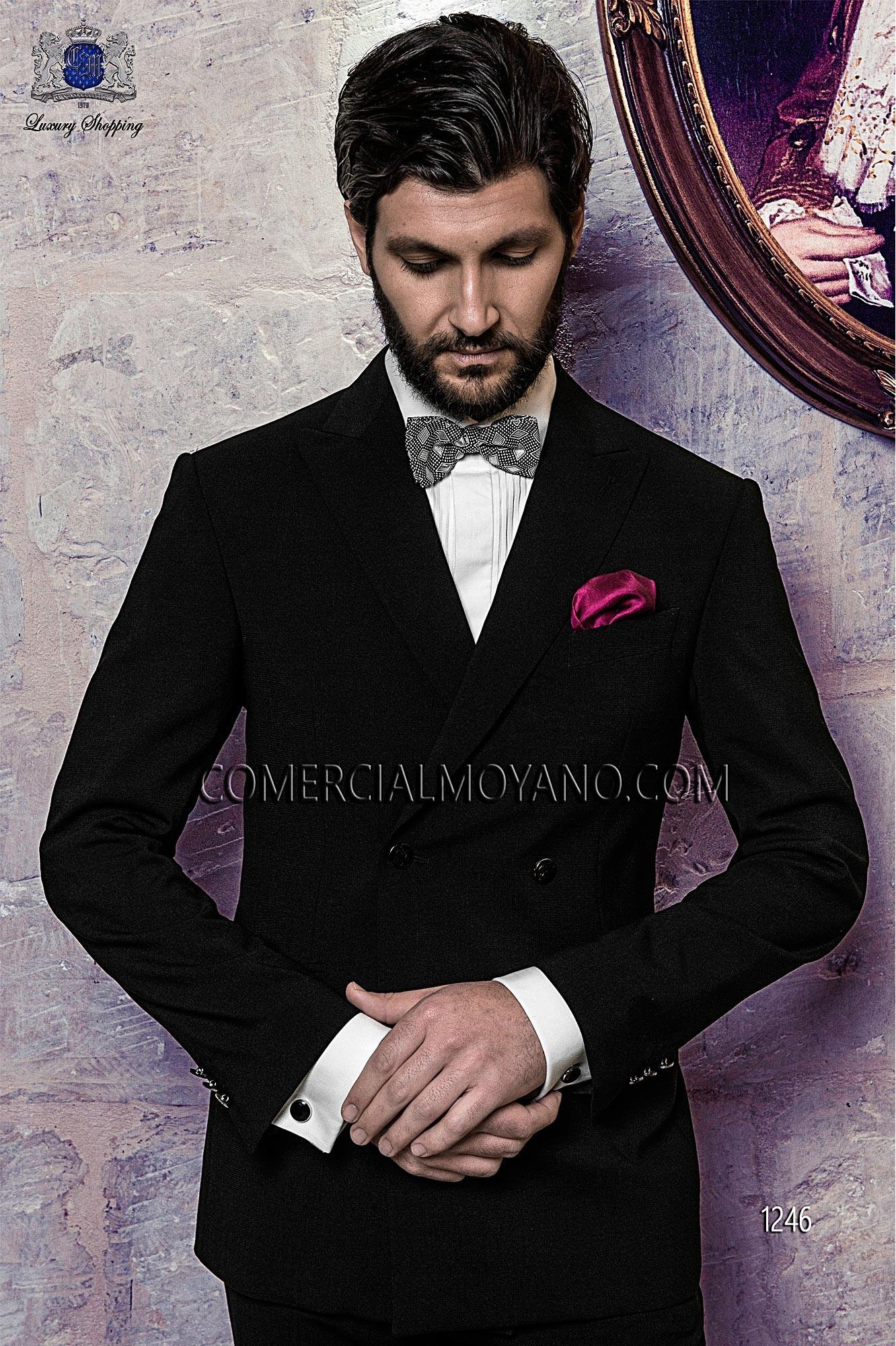 Black Tie Black men wedding suit model 1246 Ottavio Nuccio Gala