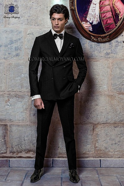 Italian blacktie black men wedding suit style 1247 Ottavio Nuccio Gala