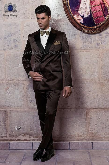 Italian brown tuxedo wedding suit
