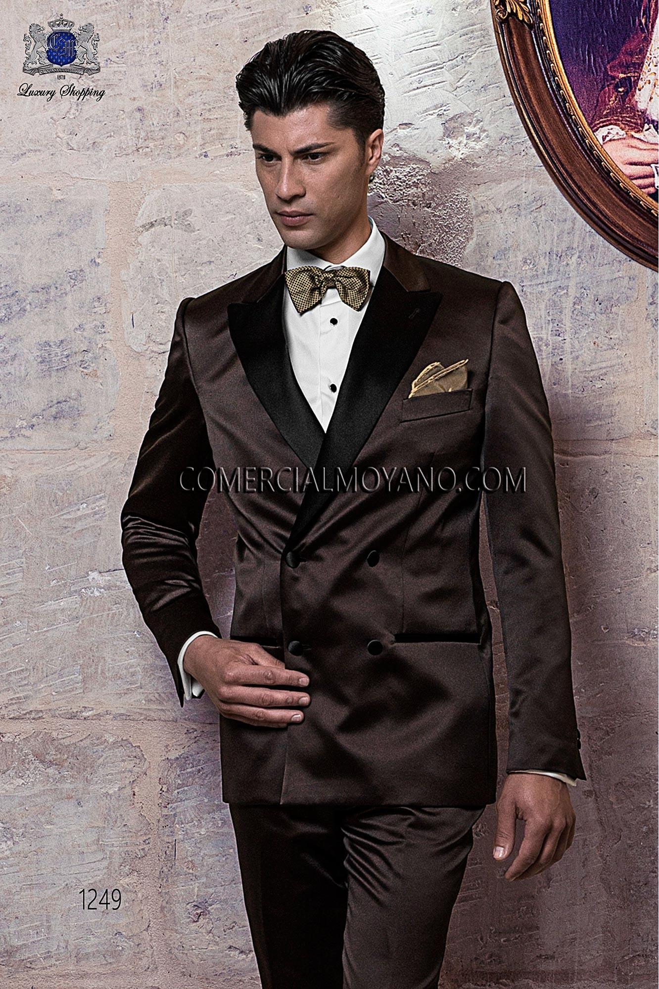 Traje BlackTie de novio marrón modelo: 1249 Ottavio Nuccio Gala colección Black Tie 2017