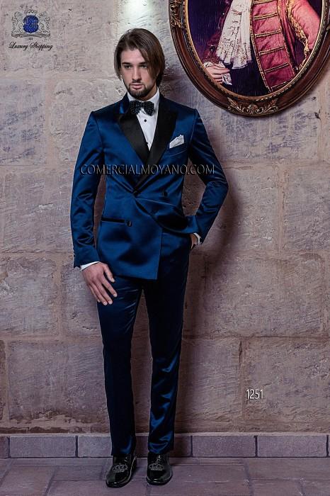 Italian blue wedding suit tuxedo style 1251 Ottavio Nuccio Gala