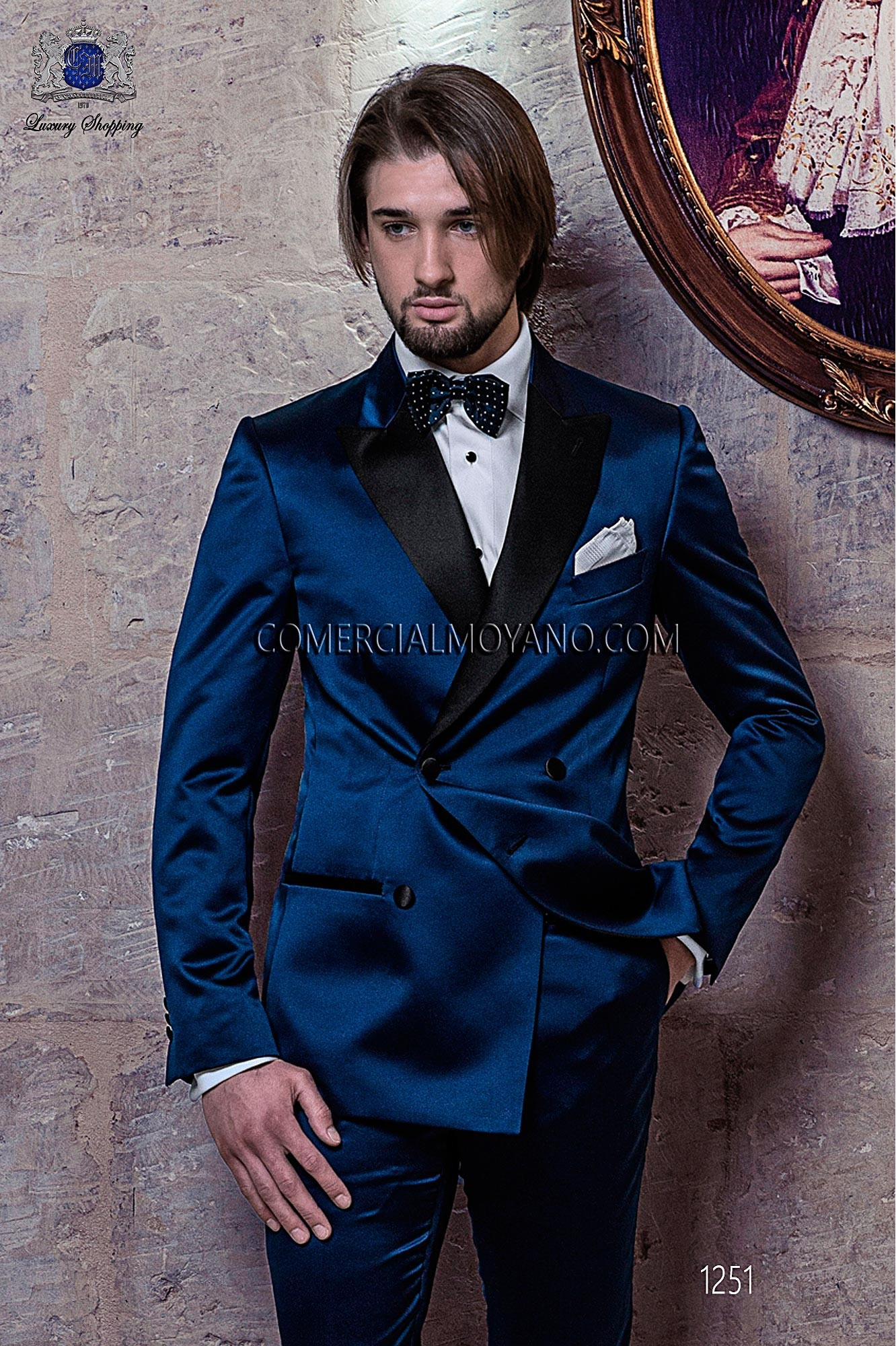 Traje BlackTie de novio azul modelo: 1251 Ottavio Nuccio Gala colección Black Tie
