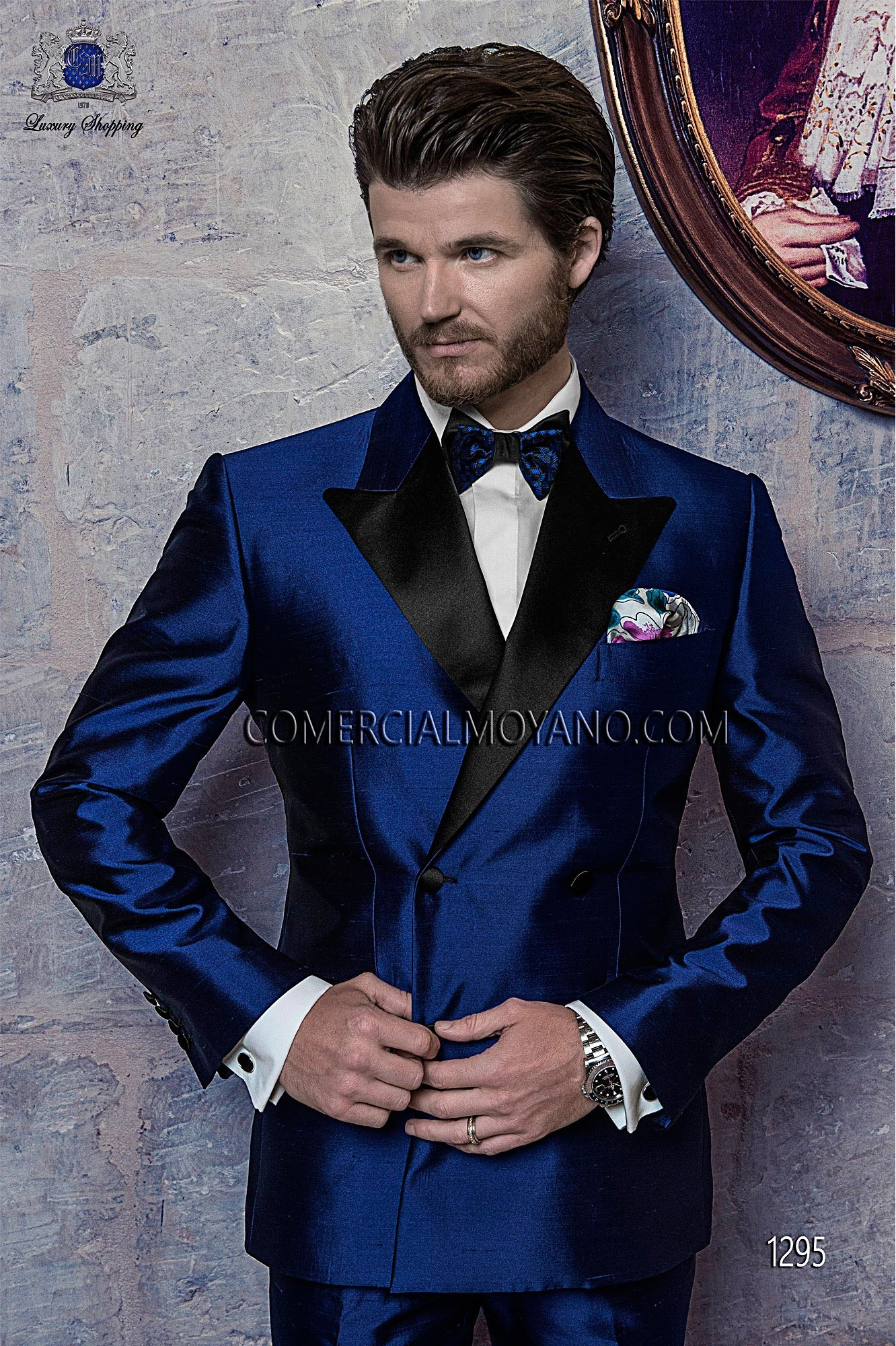 17f4b882b0 Black Tie royal blue men wedding suit model 1295 Ottavio Nuccio Gala