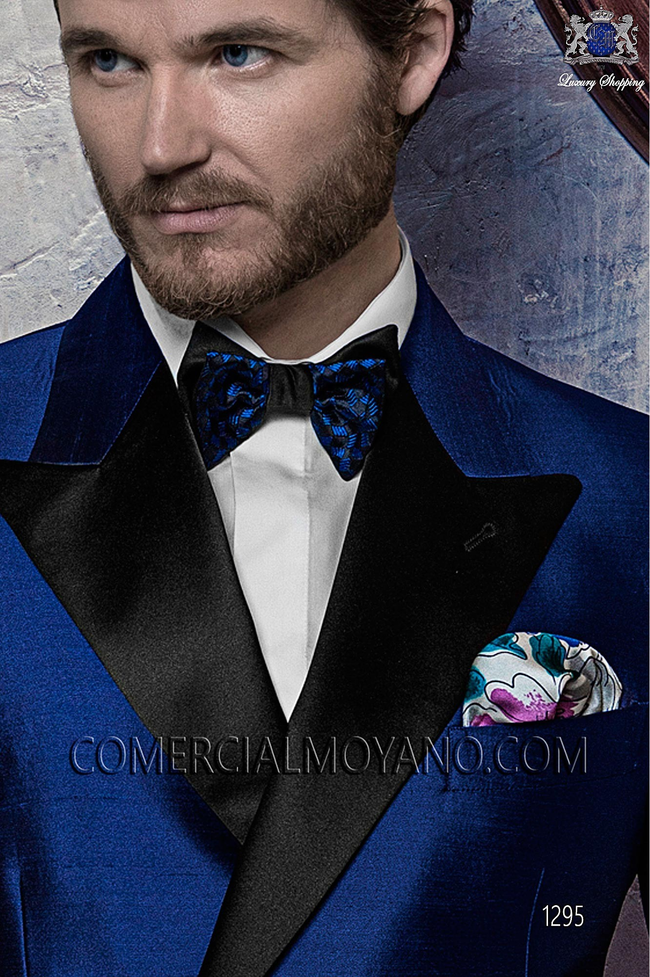 Black Tie royal blue men wedding suit, model: 1295 Ottavio Nuccio ...