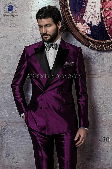 Italian Purple Wedding Suit Tuxedo