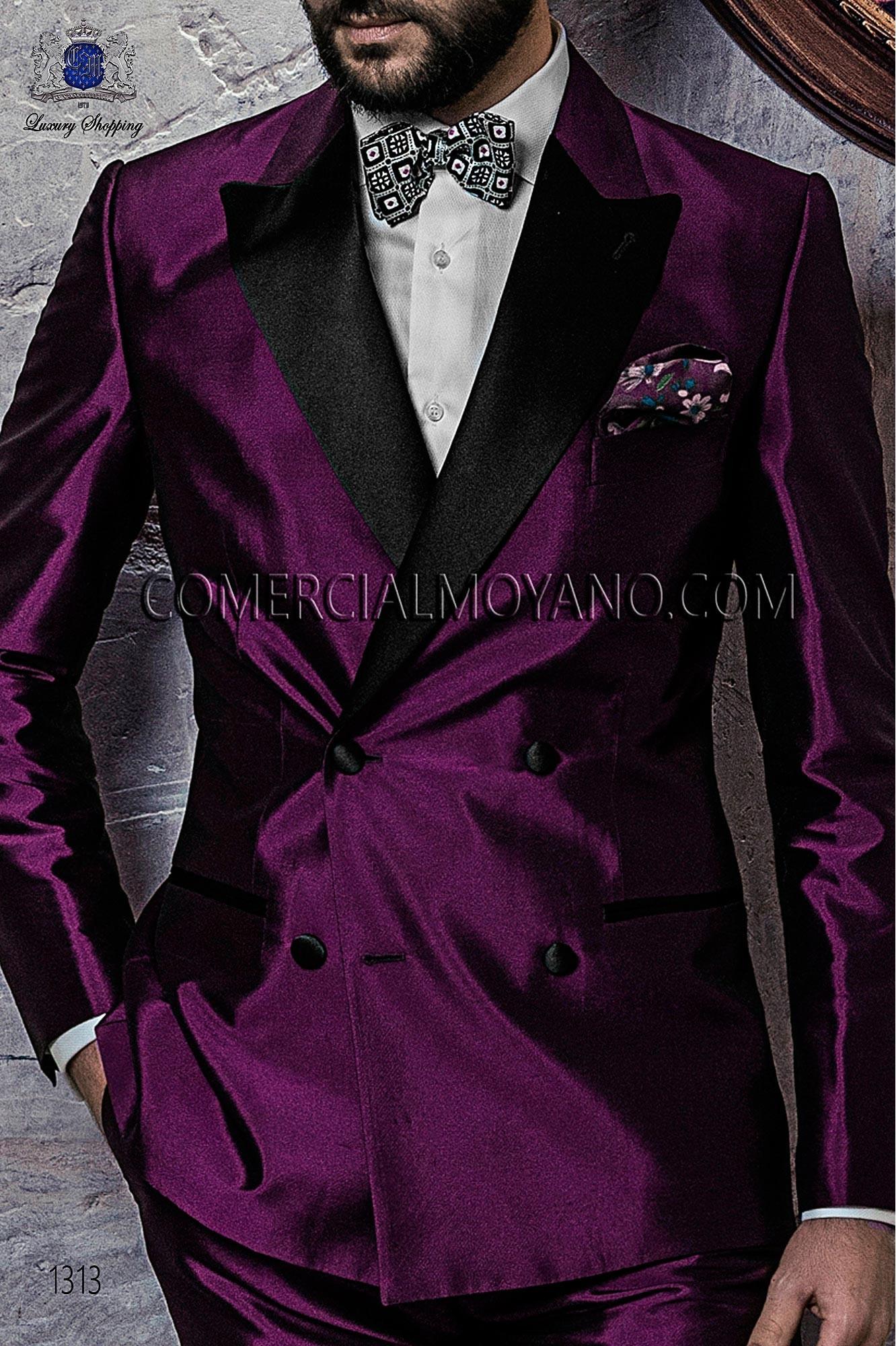 Traje BlackTie de novio morado modelo: 1313 Ottavio Nuccio Gala colección Black Tie