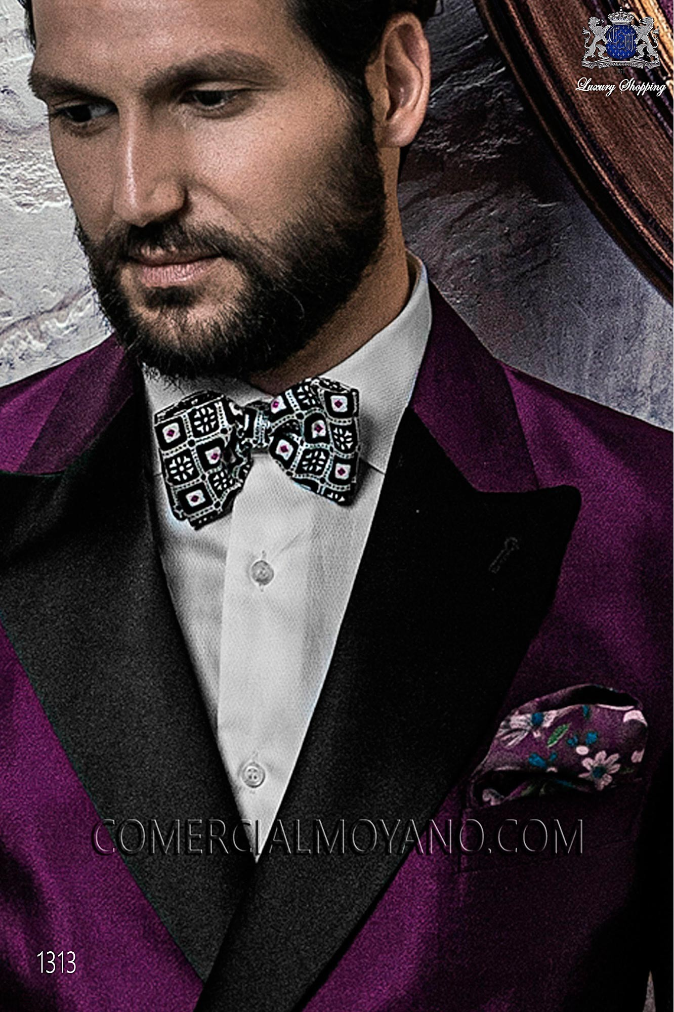 Italian blacktie Purple men wedding suit, model: 1313 Ottavio Nuccio Gala Black Tie Collection