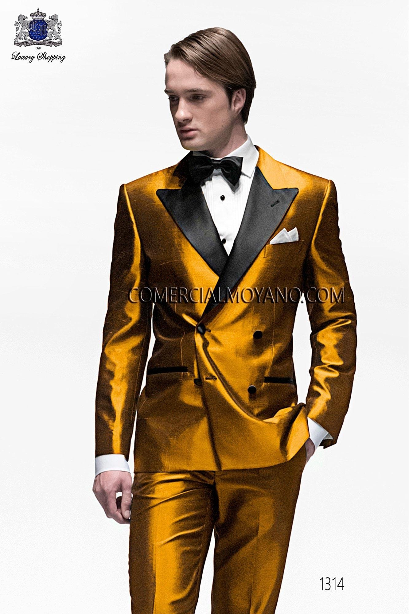 Traje BlackTie de novio dorado modelo: 1314 Ottavio Nuccio Gala colección Black Tie 2017