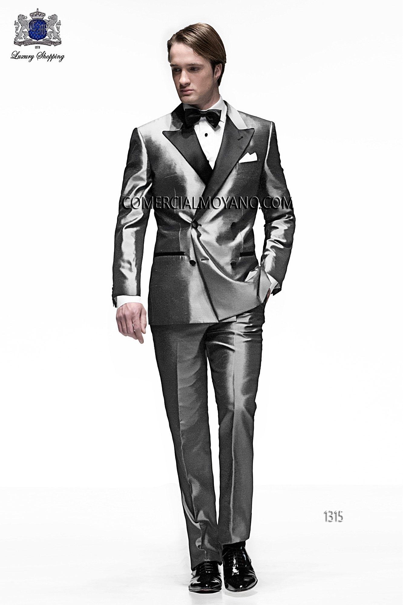 Black Tie Light gray men wedding suit model 1315 Ottavio Nuccio Gala