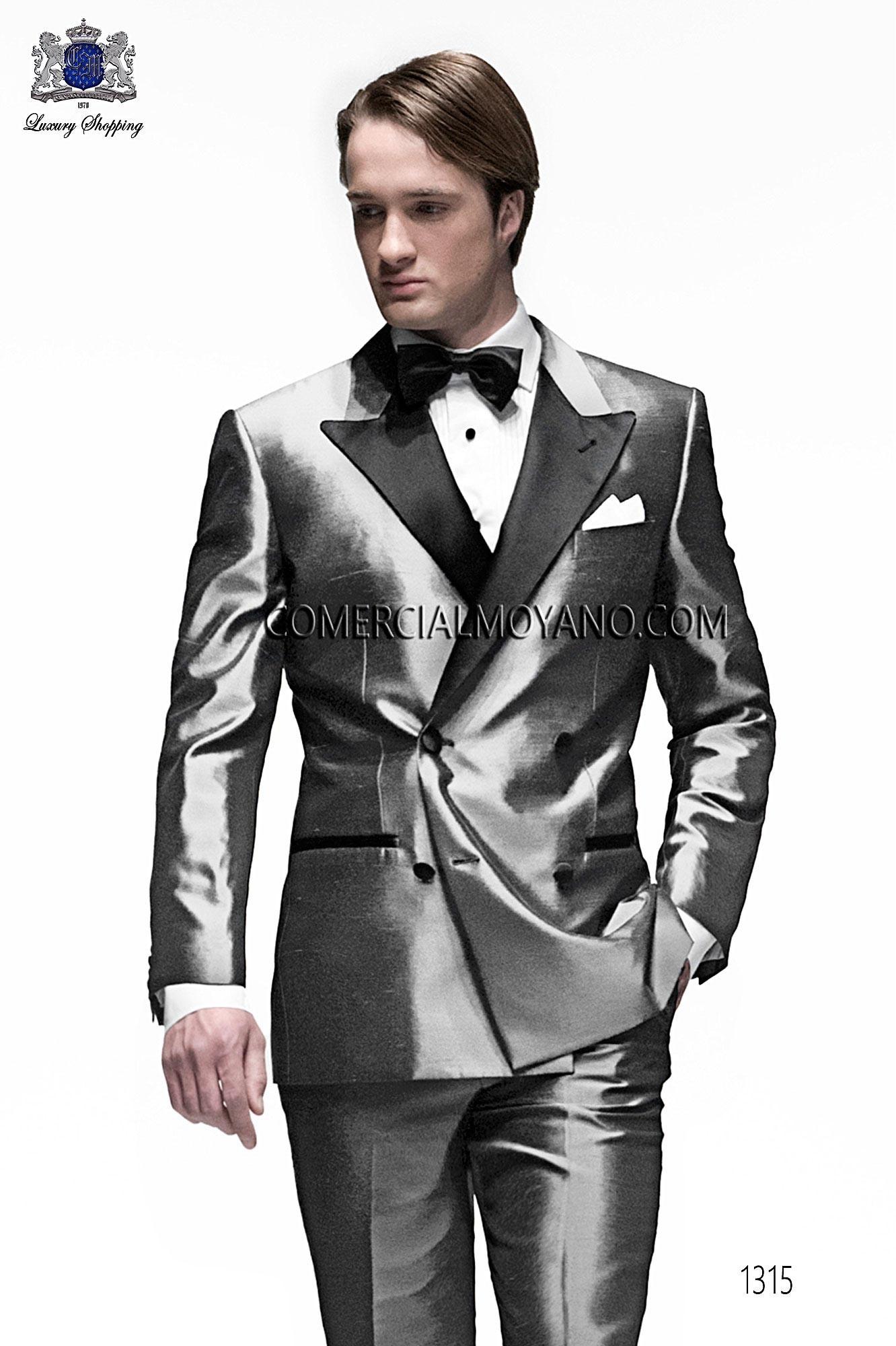 Traje BlackTie de novio gris modelo 1315 Ottavio Nuccio Gala colección Black Tie 2017