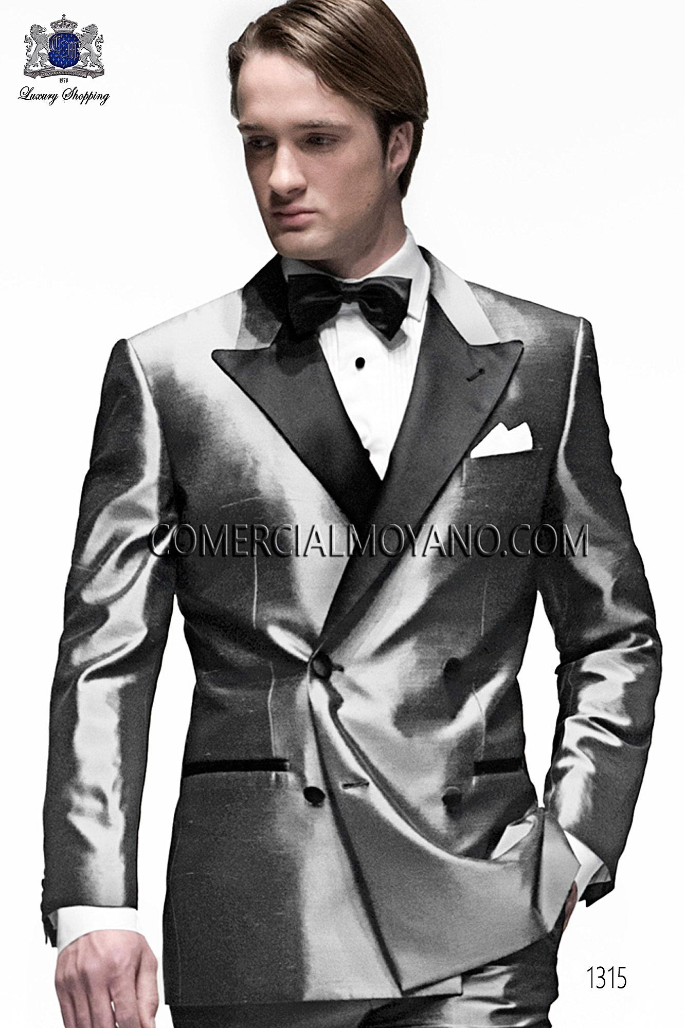 Black Tie Light gray men wedding suit, model: 1315 Ottavio Nuccio ...