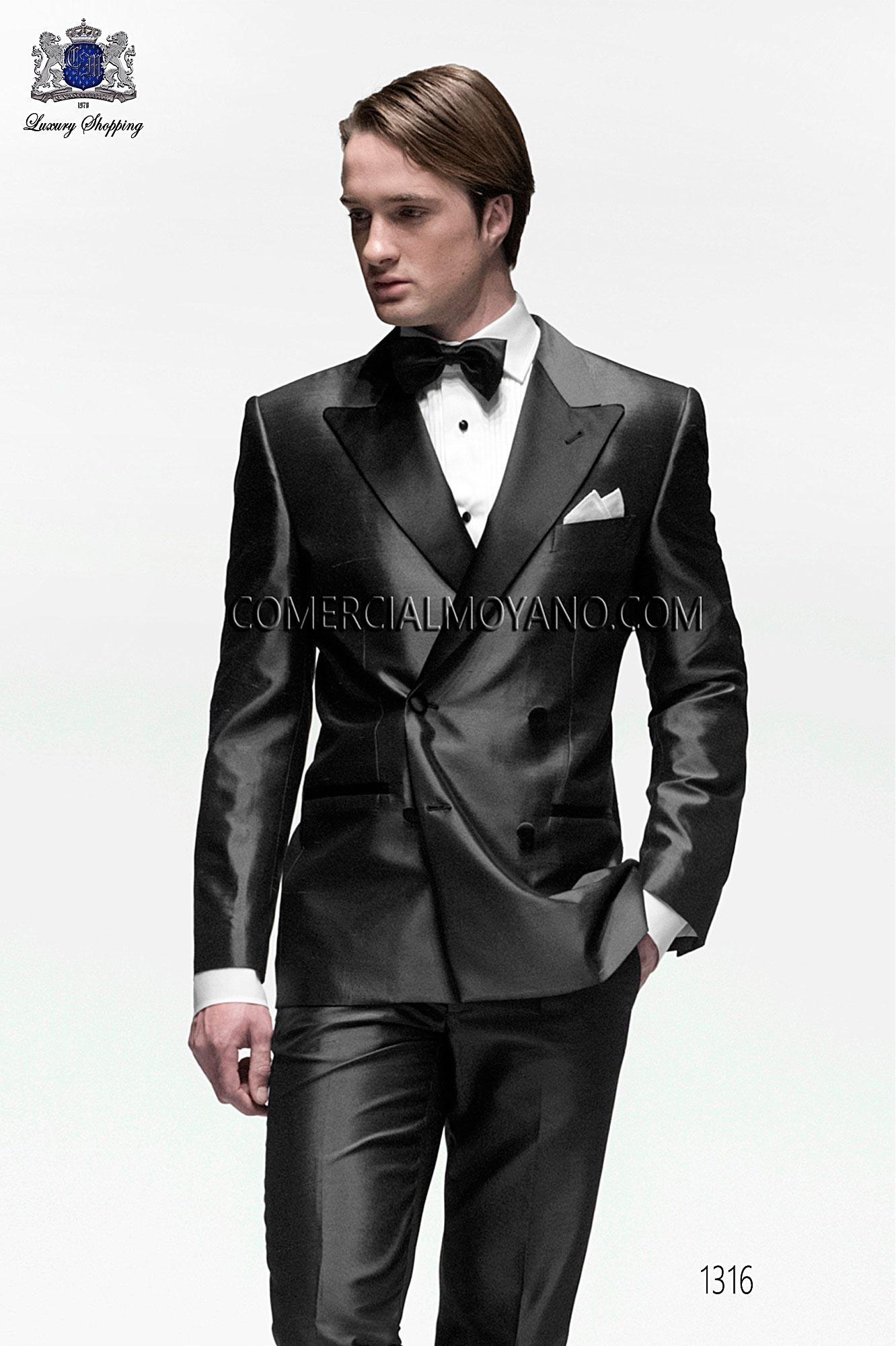 Traje BlackTie de novio gris modelo: 1316 Ottavio Nuccio Gala colección Black Tie