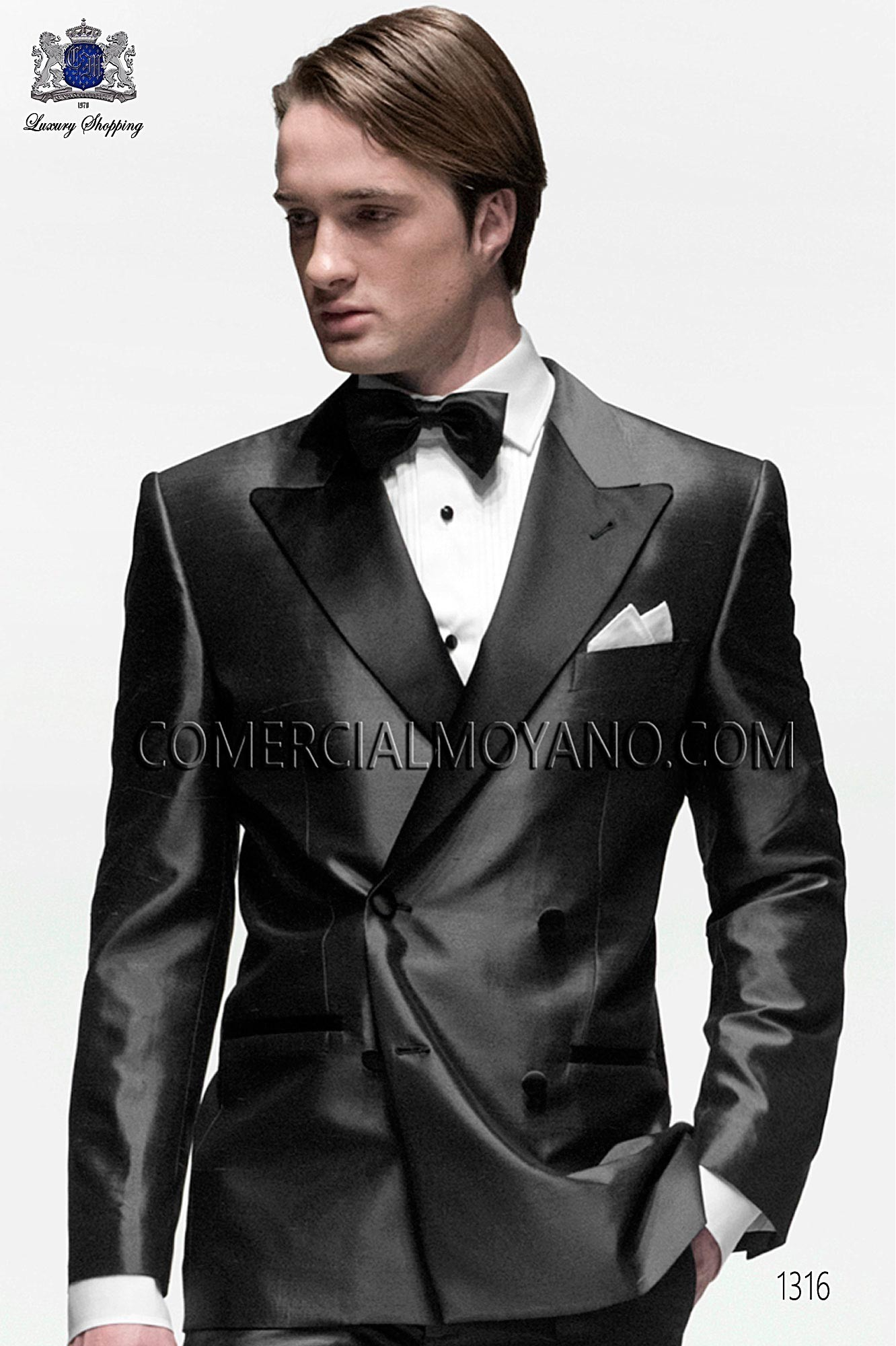 Black Tie Gray men wedding suit, model: 1316 Ottavio Nuccio Gala ...