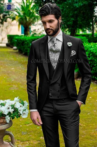 Italian gray short frock coat wedding suit