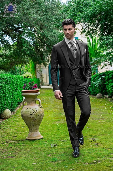 Italian fashion gray men wedding suit style 1049 Ottavio Nuccio Gala