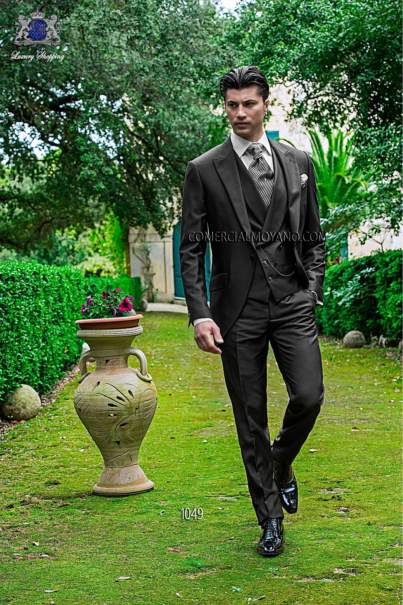 Fashion gray antracite men wedding suit model 1049 Ottavio Nuccio Gala