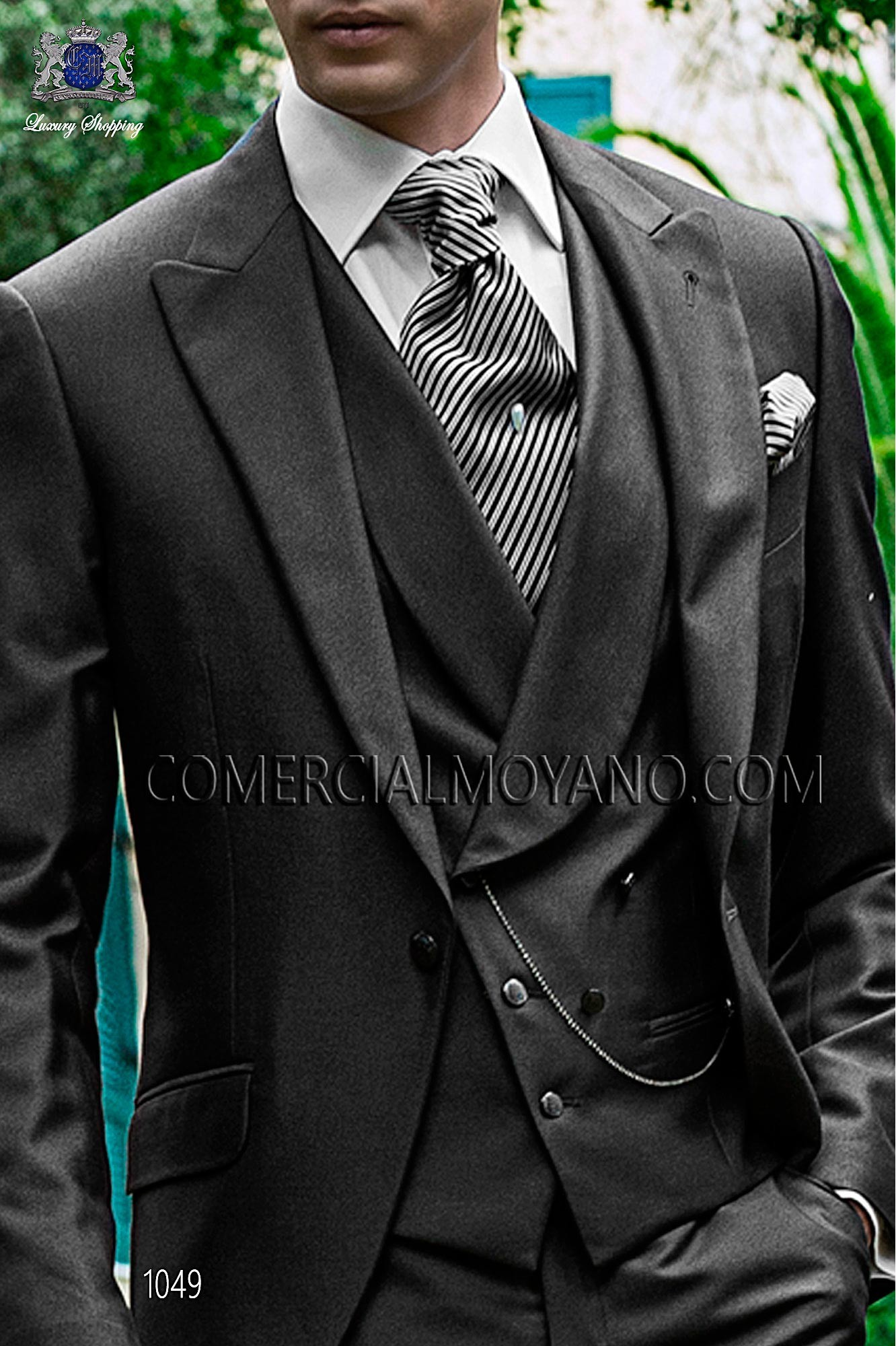 Italian fashion gray antracite men wedding suit, model: 1049 Ottavio Nuccio Gala Fashion Collection