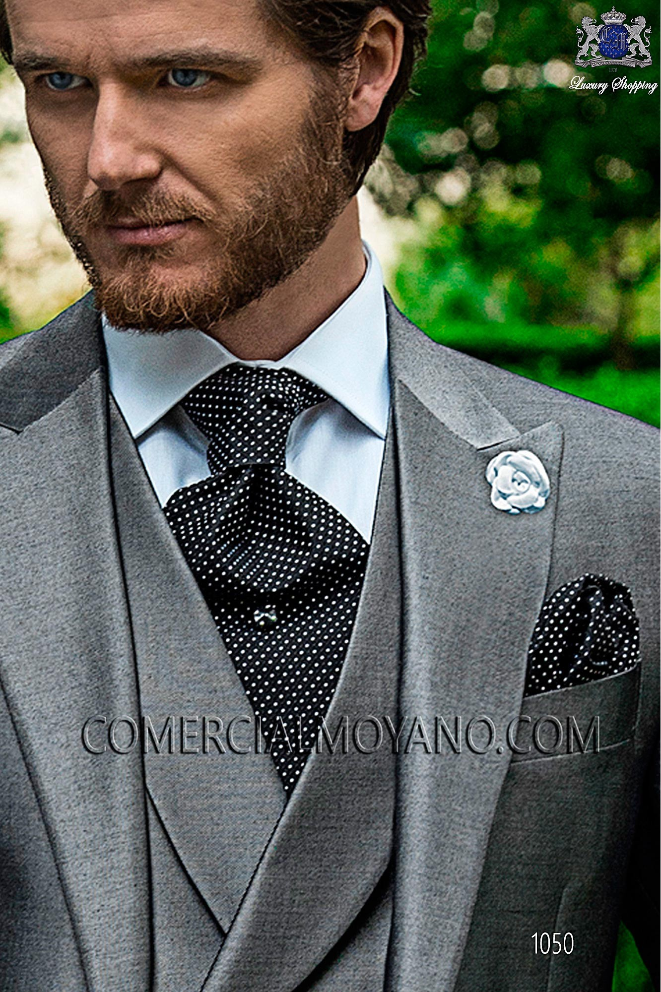 Italian fashion pearl gray men wedding suit, model: 1050 Ottavio Nuccio Gala 2017 Fashion Collection
