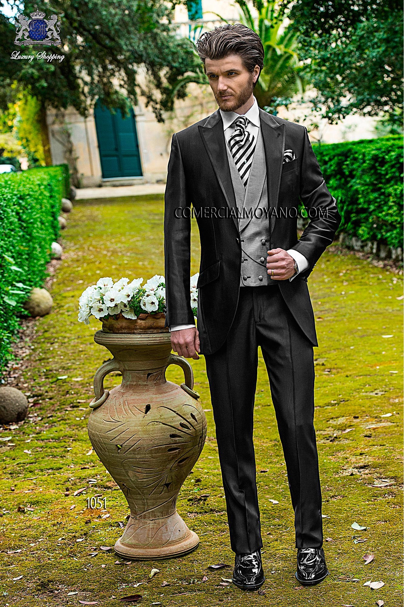Fashion black men wedding suit model 1051 Ottavio Nuccio Gala