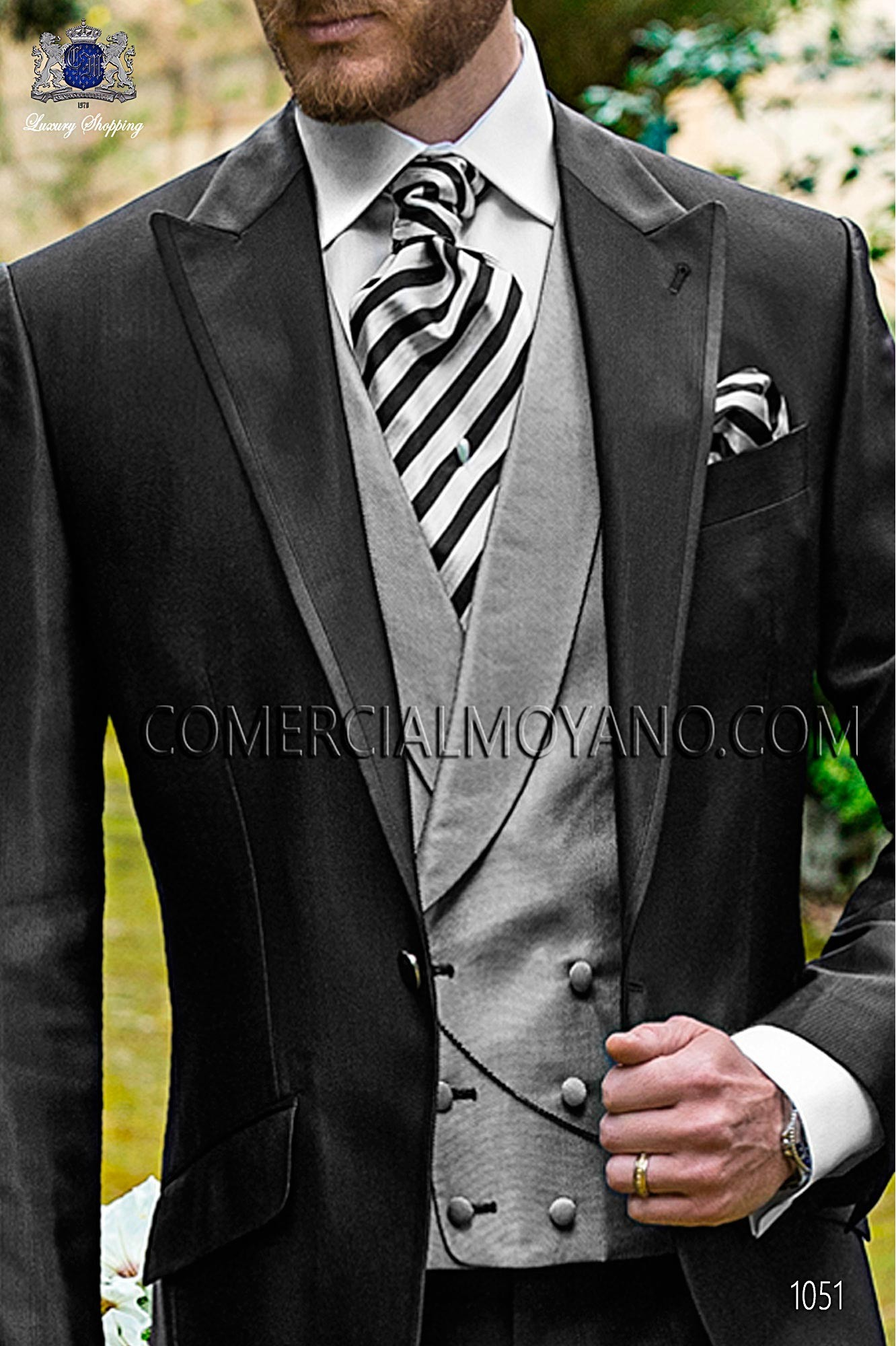 Italian fashion black men wedding suit, model: 1051 Ottavio Nuccio Gala 2017 Fashion Collection