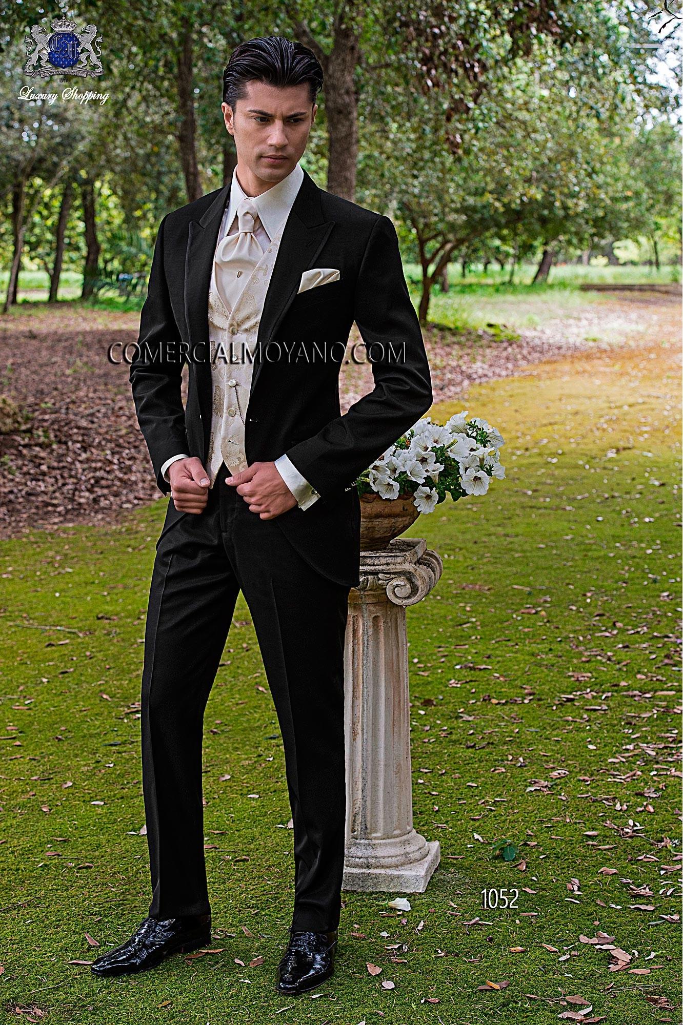 Fashion black men wedding suit model 1052 Ottavio Nuccio Gala