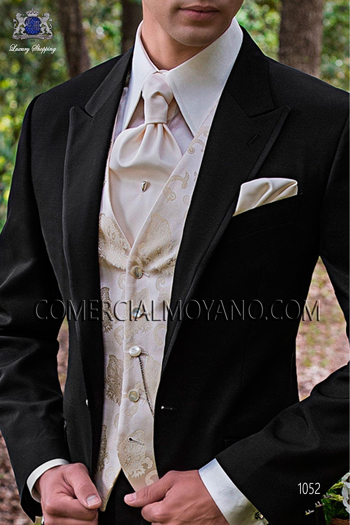 Italian fashion black men wedding suit, model: 1052 Ottavio Nuccio Gala Fashion Collection