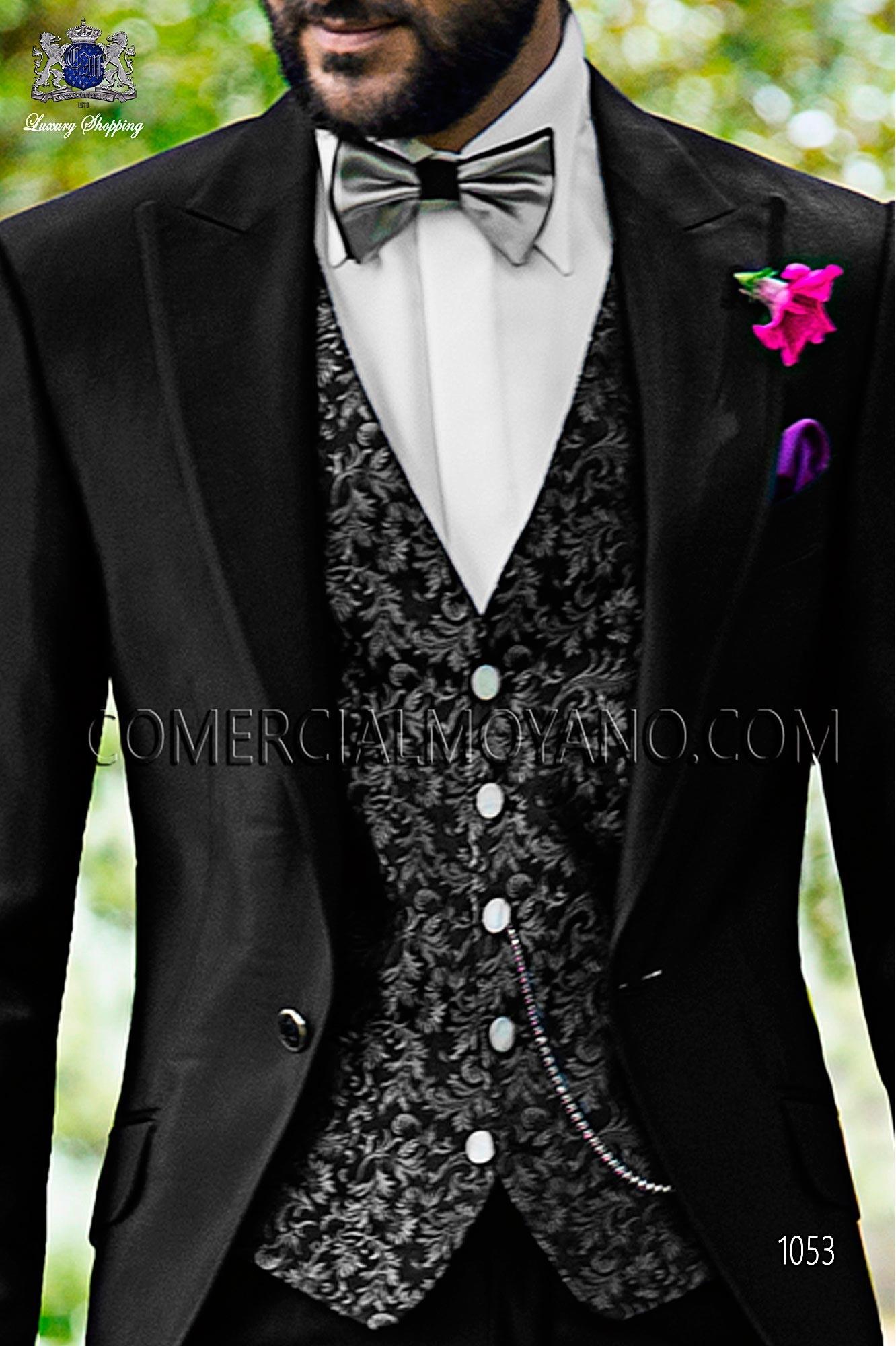 Italian fashion black men wedding suit, model: 1053 Ottavio Nuccio Gala Fashion Collection