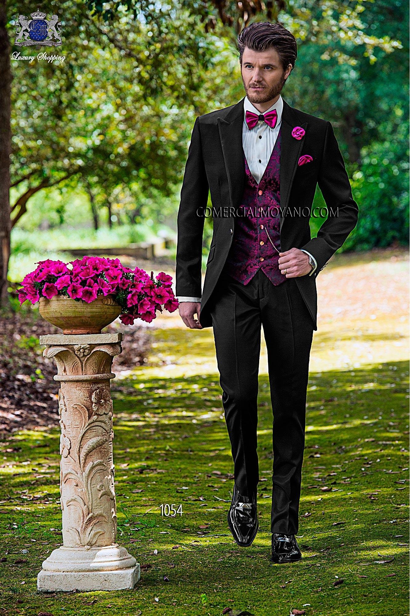 Fashion black granite men wedding suit model 1054 Ottavio Nuccio Gala