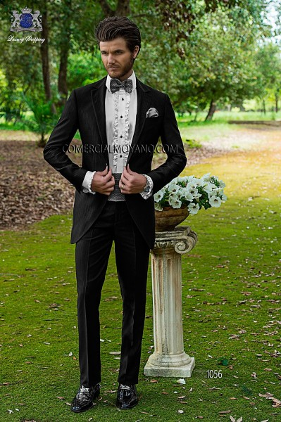 Italian fashion black men wedding suit style 1056 Ottavio Nuccio Gala