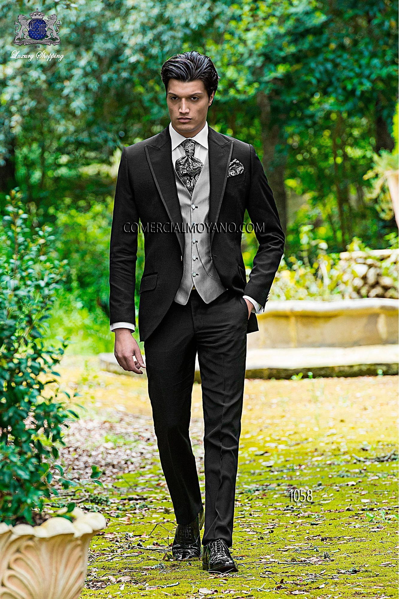 Traje de novio moderno negro modelo: 1058 Ottavio Nuccio Gala colección Fashion