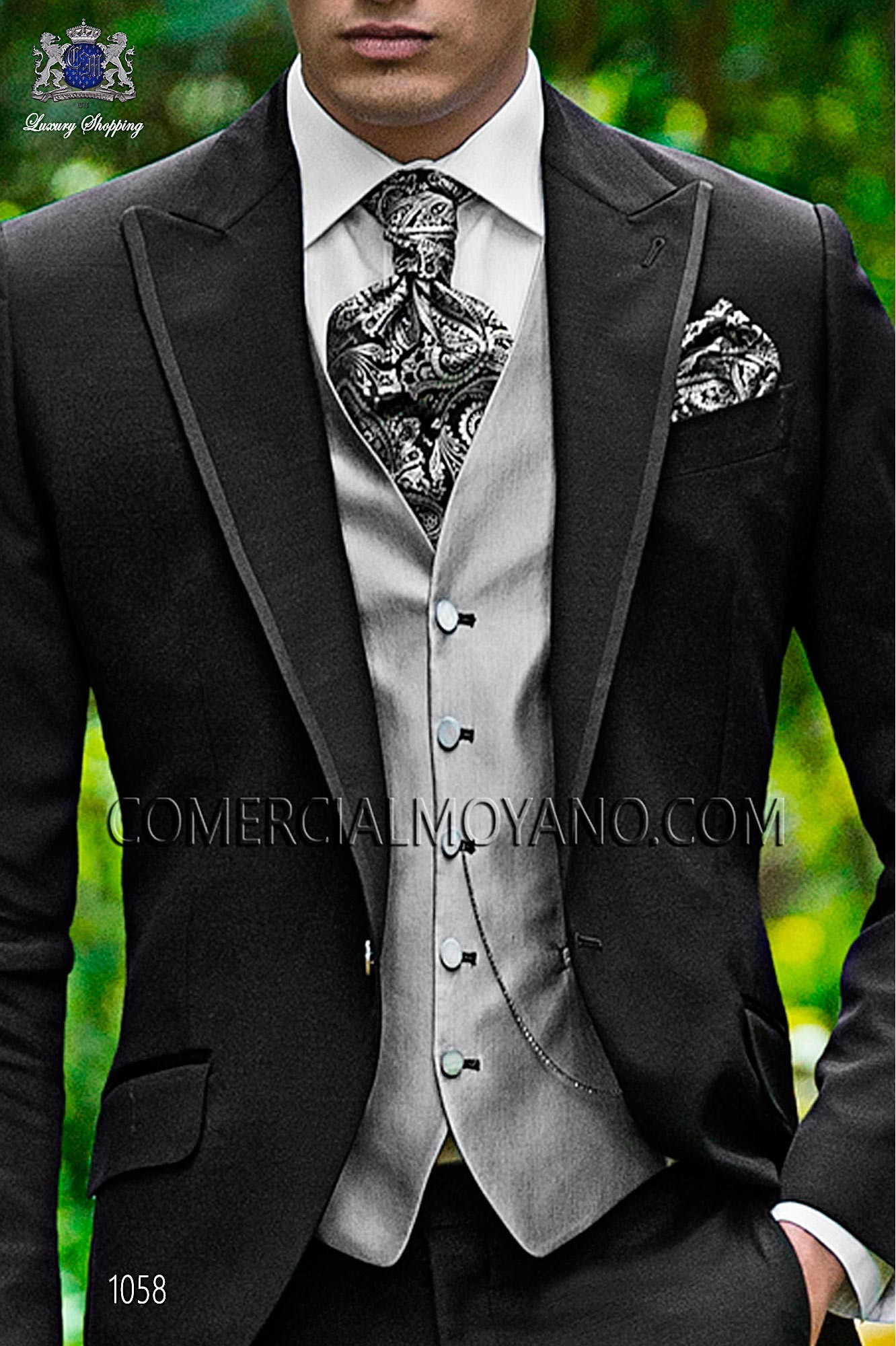 Italian fashion black men wedding suit, model: 1058 Ottavio Nuccio Gala Fashion Collection