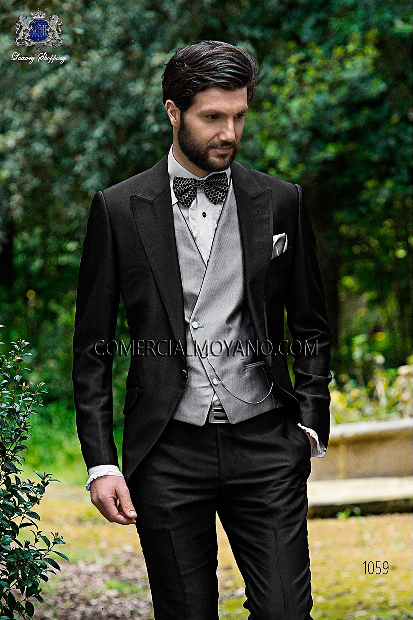 Traje Fashion de novio negro modelo: 1059 Ottavio Nuccio Gala colección Fashion
