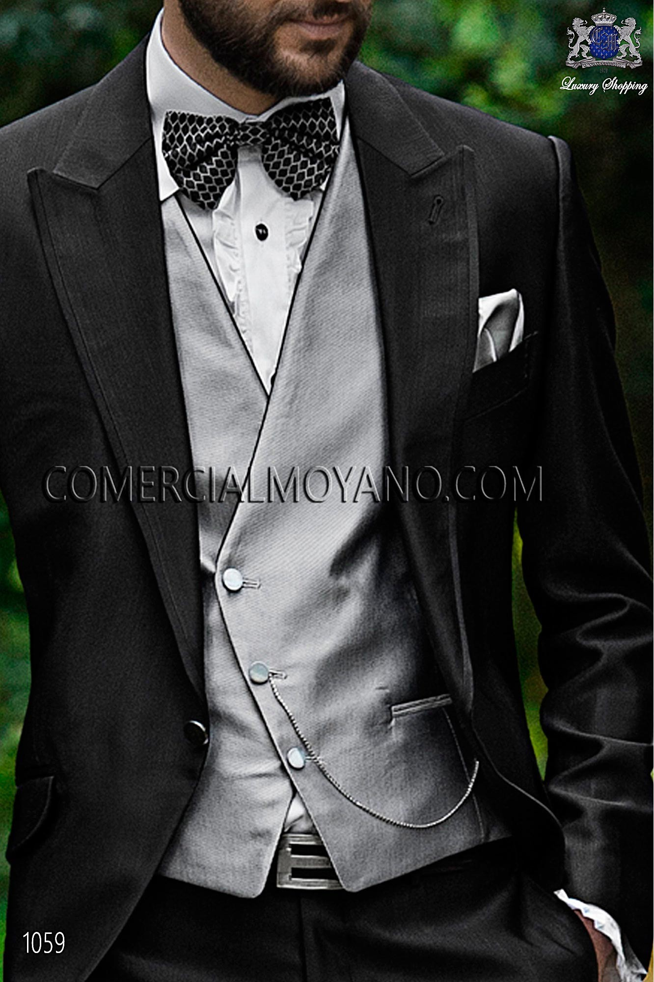 Italian fashion black men wedding suit, model: 1059 Ottavio Nuccio Gala Fashion Collection