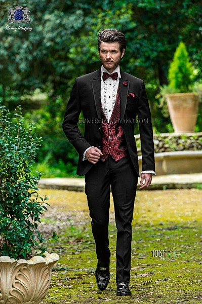Italian fashion black men wedding suit style 1061 Ottavio Nuccio Gala