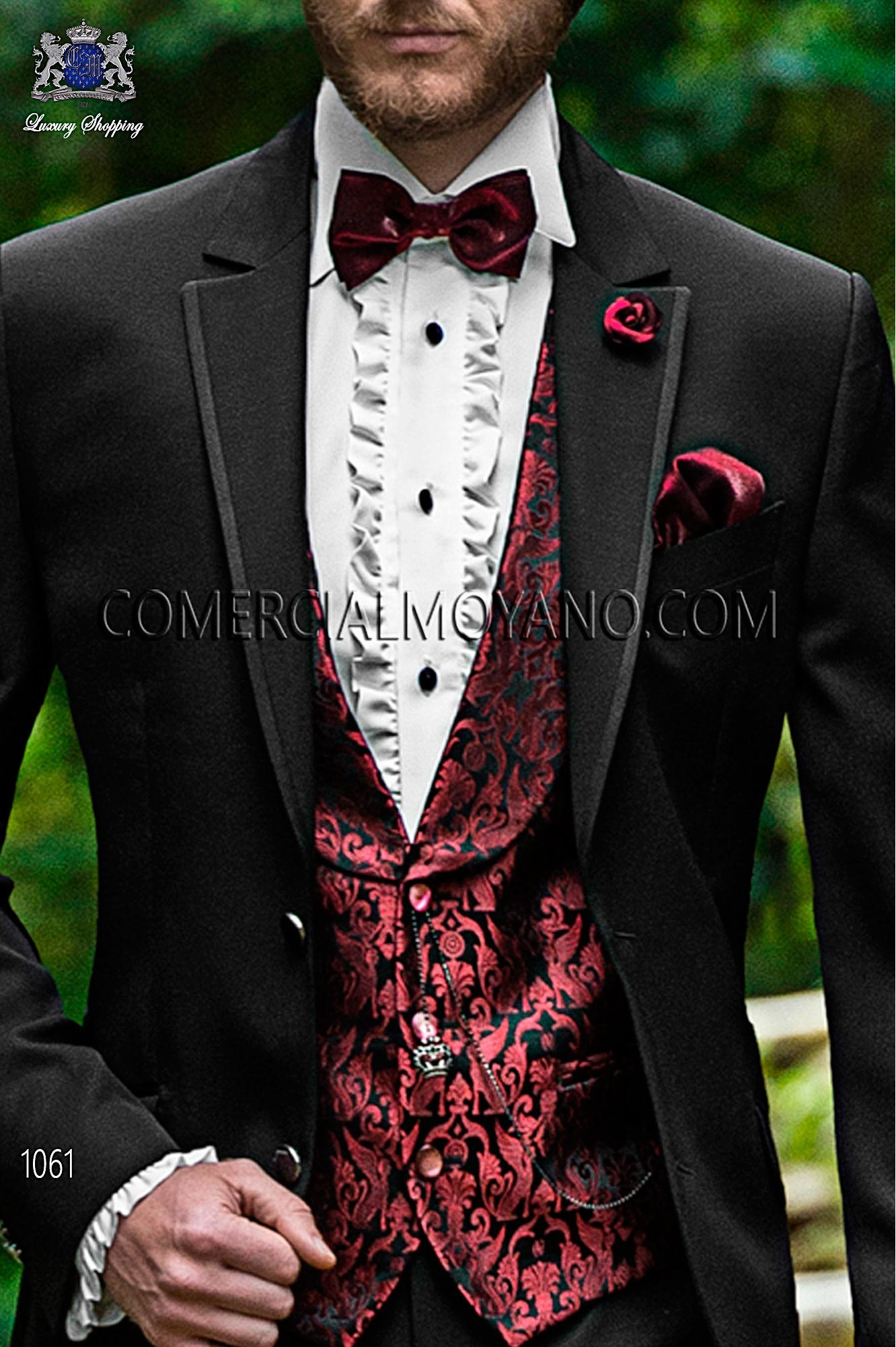 Italian fashion black men wedding suit, model: 1061 Ottavio Nuccio Gala Fashion Collection