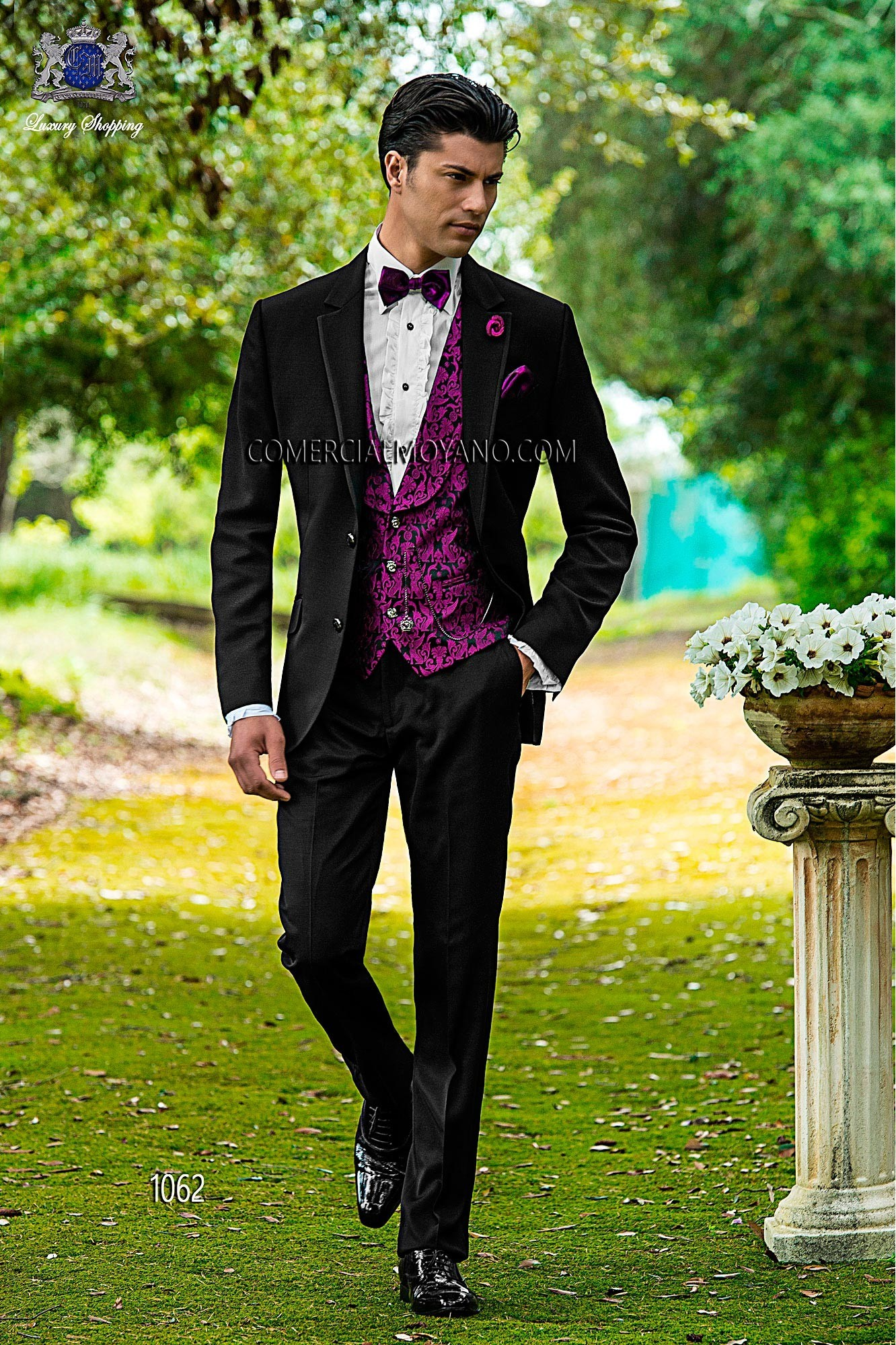 Fashion black men wedding suit model 1062 Ottavio Nuccio Gala