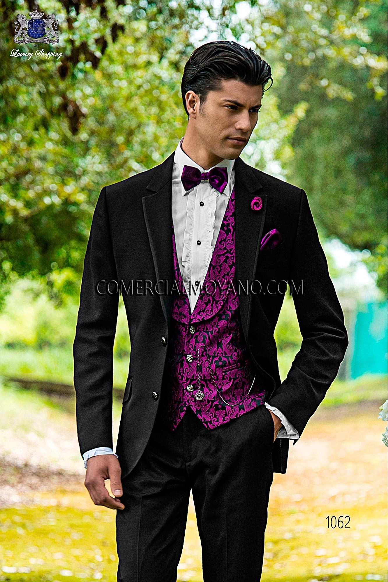 Traje Fashion de novio negro modelo: 1062 Ottavio Nuccio Gala colección Fashion