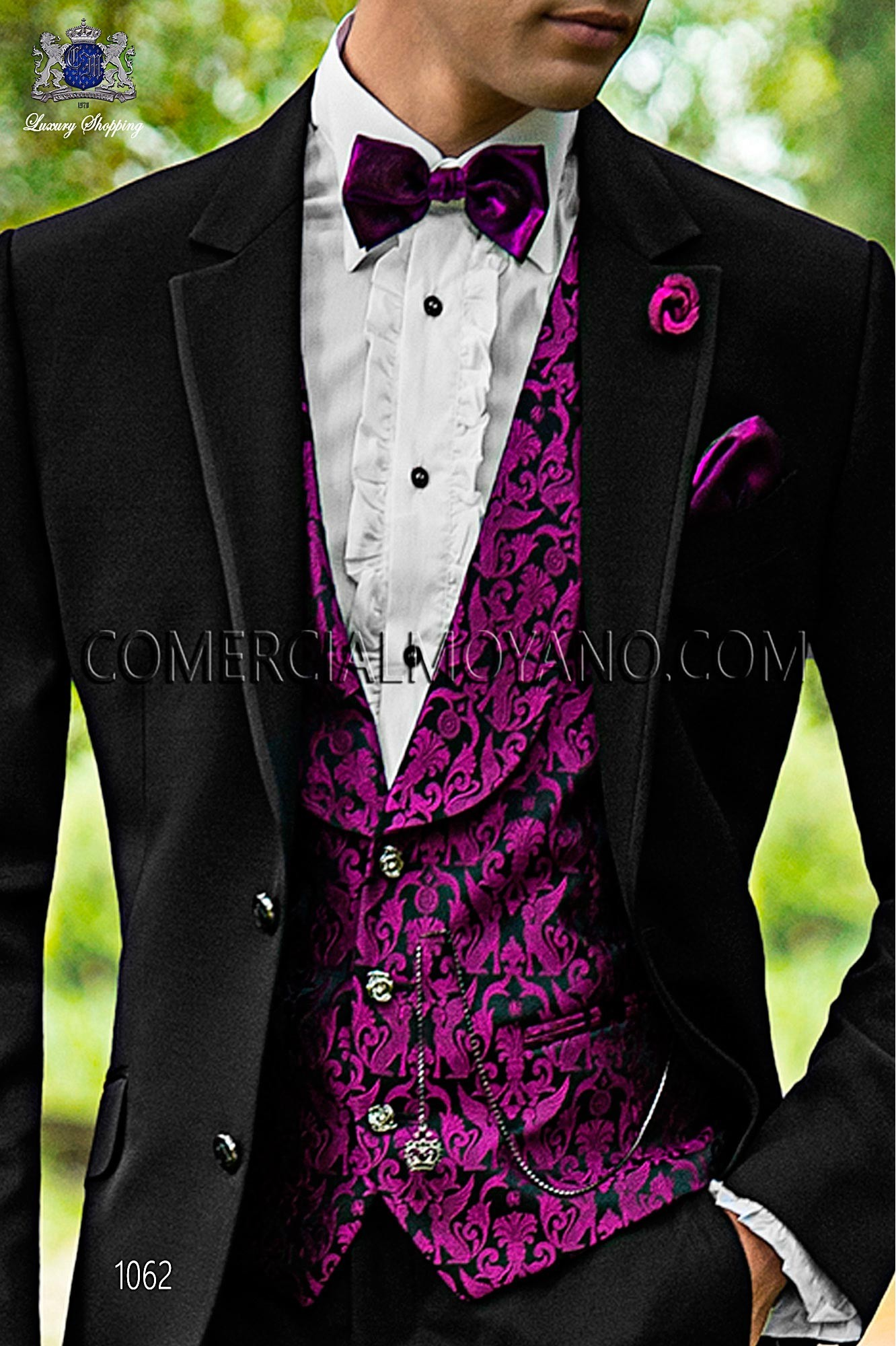 Fashion black men wedding suit, model: 1062 Ottavio Nuccio Gala ...