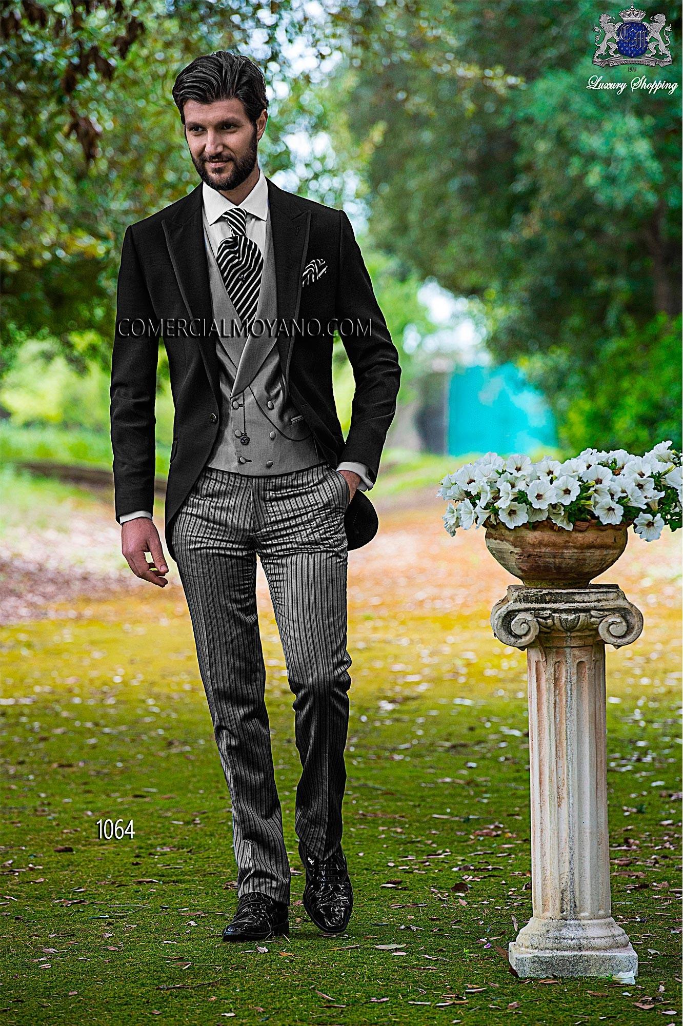 Fashion black men wedding suit model 1064 Ottavio Nuccio Gala