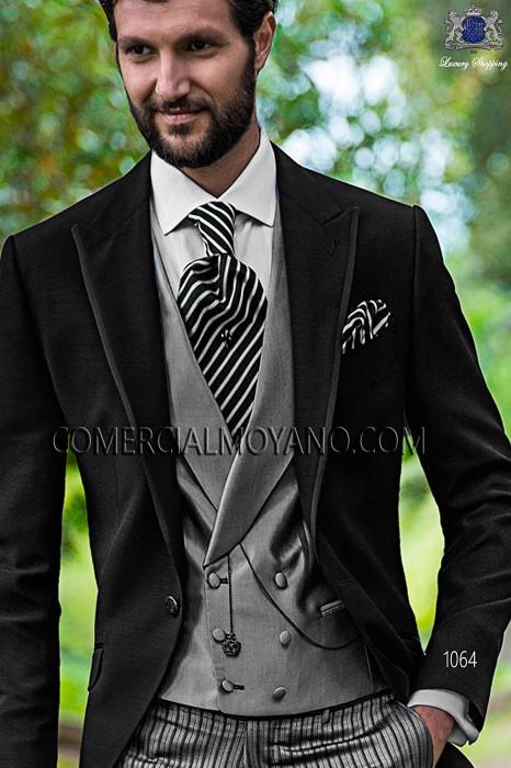 Italian bespoke black wedding suit style 1064 Ottavio Nuccio Gala.