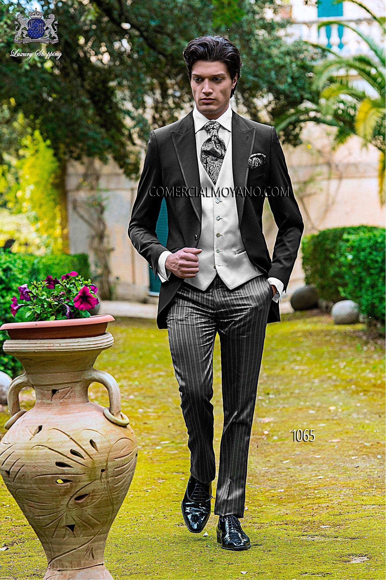 Fashion black men wedding suit model 1065 Ottavio Nuccio Gala